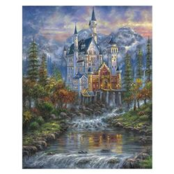 """Robert Finale, """"Autumn Mist Neusch"""" Hand Signed, Artist Embellished Limited Edition on Canvas with C"""