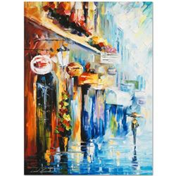 """Leonid Afremov (1955-2019) """"By the Light"""" Limited Edition Giclee on Canvas, Numbered and Signed. Thi"""