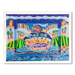 """Ilan Hasson, """"The Promised Land"""" Hand Signed Limited Edition Serigraph on Paper with Letter of Authe"""