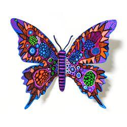 "Patricia Govezensky- Original Painting on Cutout Steel ""Butterfly LXXXVI"""