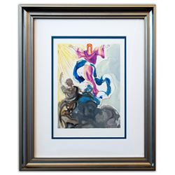 "Salvador Dali- Original Color Woodcut on B.F.K. Rives Paper ""Paradise 3"""