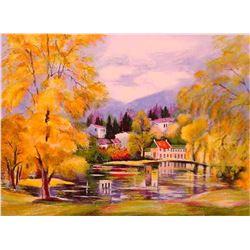 """Zina Roitman- Original Serigraph """"Autumn"""""""