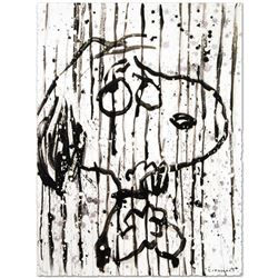 """""""Dancing In The Rain"""" Limited Edition Hand Pulled Original Lithograph by Renowned Charles Schulz Pro"""