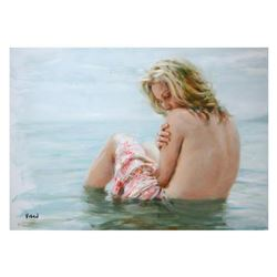 """Vidan, """"Solitude"""" Limited Edition on Canvas, Numbered and Hand Signed with Certificate."""