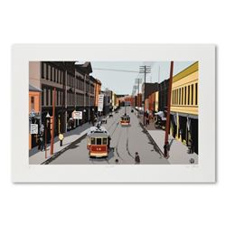 """Armond Fields (1930-2008), """"Main Street 1907"""" Limited Edition Hand Pulled Original Serigraph, Number"""