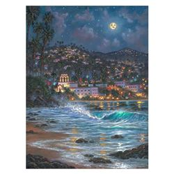 """Robert Finale, """"Starry Night Laguna"""" Hand Signed, Artist Embellished Limited Edition on Canvas with"""
