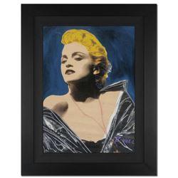 "Ringo 4u2c - (Protege of Andy Warhol's Apprentice - Steve Kaufman) - ""Madonna in Leather"" Framed One"