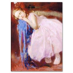 """Pino (1939-2010), """"Party Dreams"""" Artist Embellished Limited Edition on Canvas, AP Numbered and Hand"""