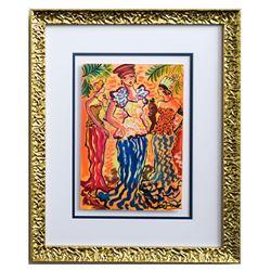 """Patricia Govezensky- Original Watercolor """"Princess"""""""