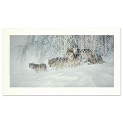 """Larry Fanning (1938-2014), """"Winter's Lace - Gray Wolves"""" Limited Edition Lithograph from an AP Editi"""