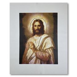 """Steve Kaufman (1960-2010), """"Jesus Peace State Two"""" Hand Signed and Numbered Limited Edition Hand Pul"""
