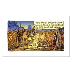 """Bizarro! """"Cattle Protest"""" Numbered Limited Edition Hand Signed by creator Dan Piraro; Letter of Auth"""