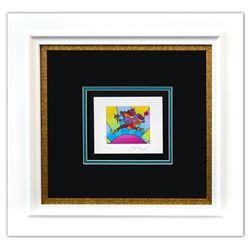 "Peter Max- Original Lithograph ""Flower Jumper Over Sunrise Ver. I (mini)"""