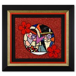 """Romero Britto, """"Honey"""" Framed Original Mixed Media on Board, Hand Signed with Certificate of of Auth"""