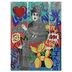 "Nastya Rovenskaya- Original Oil on Canvas ""His Ballon"""