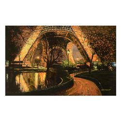 """Howard Behrens (1933-2014), """"Twilight At The Eiffel Tower"""" Limited Edition on Canvas, Numbered and S"""