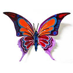 "Patricia Govezensky- Original Painting on Cutout Steel ""Butterfly CCLXXXVIII"""