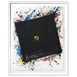 """SAM FRANCIS (1923-1994)- Lithograph in colours on Arches wove paper """"Dark and Fast"""""""
