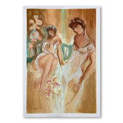 """Batia Magal, """"Sister"""" Hand Signed Limited Edition Serigraph on Paper with Letter of Authenticity."""