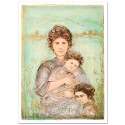 """""""Tatyana's Family"""" Limited Edition Lithograph (28"""" x 39.5"""") by Edna Hibel (1917-2014), Numbered and"""