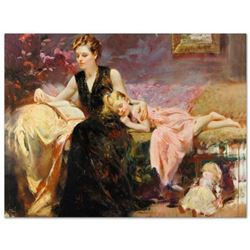 """Pino (1939-2010), """"Precious Moments"""" Artist Embellished Limited Edition on Canvas (48"""" x 36""""), CP Nu"""