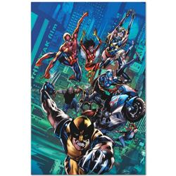 """Marvel Comics """"New Avengers Finale #1"""" Numbered Limited Edition Giclee on Canvas by Bryan Hitch with"""