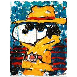 """Tom Everhart- Hand Pulled Original Lithograph """"Undercover in Beverly Hills"""""""
