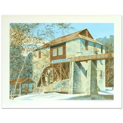 """William Nelson, """"The Mill"""" Limited Edition Serigraph, Numbered and Hand Signed by the Artist."""