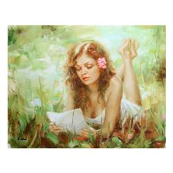 """Vidan, """"Love Letter"""" Limited Edition on Canvas, Numbered and Hand Signed with Certificate."""