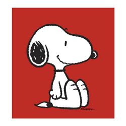 """Peanuts, """"Snoopy: Red"""" Hand Numbered Canvas (40""""x44"""") Limited Edition Fine Art Print with Certificat"""