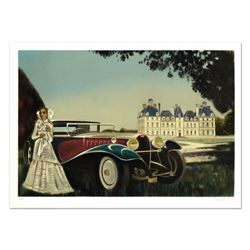 """Robert Vernet Bonfort, """"The Car"""" Limited Edition Lithograph, Numbered and Hand Signed."""