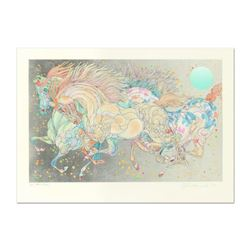 "Guillaume Azoulay, ""Stardust"" Limited Edition Serigraph with Hand Laid Silver Leaf, Numbered and Han"