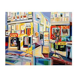 "Natalie Rozenbaum, ""Corner At Bugrashov"" Limited Edition on Canvas, Numbered and Hand Signed with Le"