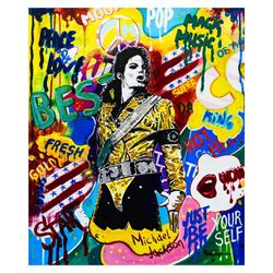 "Nastya Rovenskaya- Mixed Media ""King of Pop"""