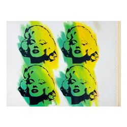 """Steve Kaufman (1960-2010), """"Four Marilyns State 1"""" Hand Signed and Numbered Limited Edition Hand Pul"""