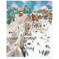 "Shmuel Katz- Original Serigraph ""View to Mt. Zion"""