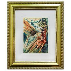 "Salvador Dali- Original Color Woodcut on B.F.K. Rives Paper ""Purgatory 26"""