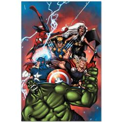 """Marvel Comics """"Marvel Adventures: The Avengers #36"""" Numbered Limited Edition Giclee on Canvas by Ig"""