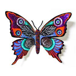 "Patricia Govezensky- Original Painting on Cutout Steel ""Butterfly CCXCIX"""
