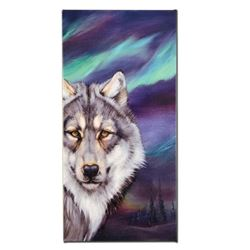 """""""Wolf Lights"""" Limited Edition Giclee on Canvas by Martin Katon, Numbered and Hand Signed. This piece"""