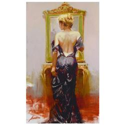 """Pino (1939-2010)- Hand Embellished Giclee on Canvas """"Evening Elegance"""""""