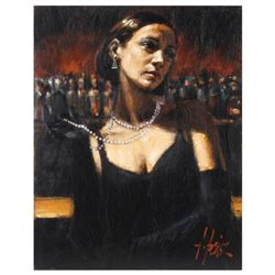 """Fabian Perez, """"Gloves & Pearls"""" Hand Textured Limited Edition Giclee on Canvas. Hand Signed and Numb"""