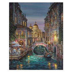 """Robert Finale, """"Venice, Ageless Beauty"""" Hand Signed, Artist Embellished Limited Edition on Canvas wi"""