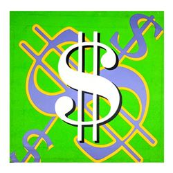 """Steve Kaufman (1960-2010), """"Dollar Sign (State 6)"""" Hand Signed and Numbered Limited Edition Hand Pul"""