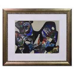 Jenik Cook, Framed Original Acrylic Painting, Hand Singed with Letter of Authenticity.