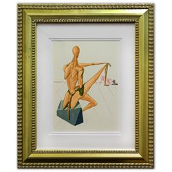 "Salvador Dali- Original Color Woodcut on B.F.K. Rives Paper ""Inferno 5"""