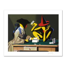 """Mark Kostabi, """"Chance Encounter"""" Limited Edition Serigraph, Numbered and Hand Signed with Certificat"""