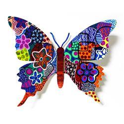 "Patricia Govezensky- Original Painting on Cutout Steel ""Butterfly CCXCVIII"""