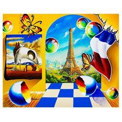 """Alexander Astahov- Original Oil on Canvas """"Eiffel Tower View"""""""