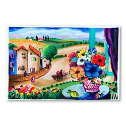 "Shlomo Alter, ""Summer Day II"" Hand Signed Limited Edition Serigraph on Paper with Letter of Authenti"